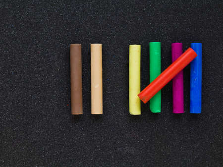 Pastel sticks as a symbolic of seven counting photo