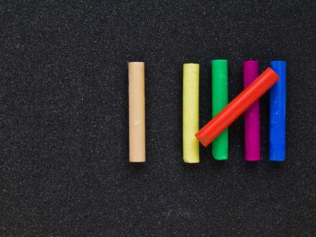 sixth form: Palos de colores pastel como s�mbolo de seis conteo