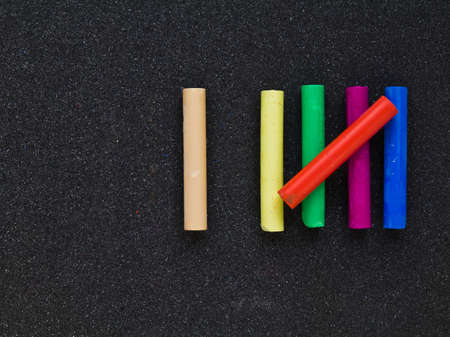 sixth form: Pastel sticks as a symbolic of six counting