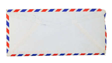 Old envelope isolated on white background photo