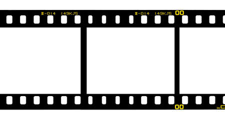 35 mm. filmstrip isolated on white background photo