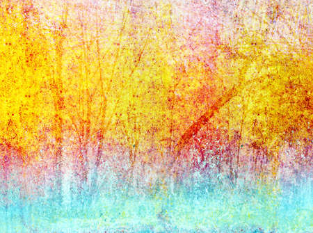 Abstract colorful forest in impressionist photo