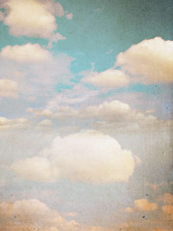 Clouds and sky, grunge background photo