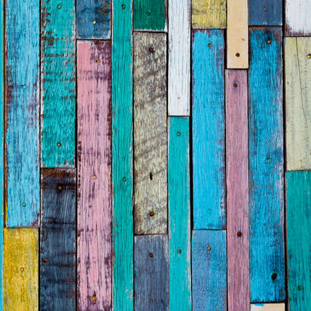 Decoratiive and colorful wood wall photo