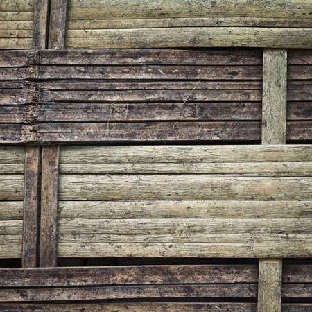 Grunge weave bamboo, Thai handcraft photo