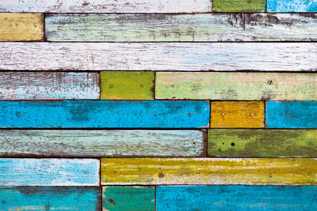 Colorful painted wood wall photo
