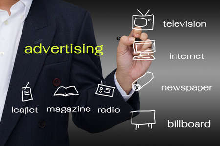 advertising media: Hand write a media channel for business
