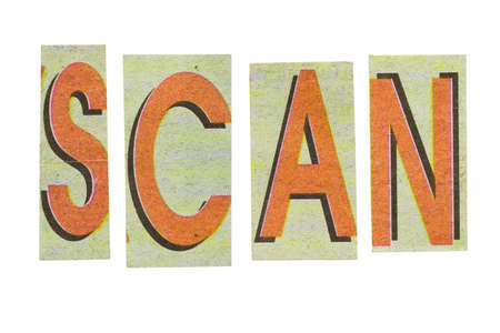 scan paper: Scan word, paper cut letter