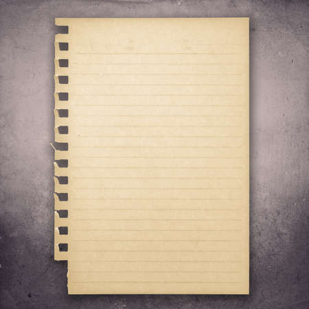 grune: Yellowed paper sheet on grune background Stock Photo
