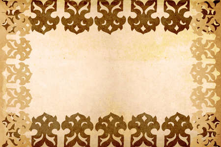 Old paper with Asian design pattern Stock Photo - 15034481
