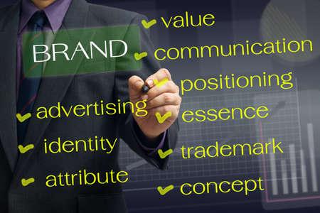Man writing  Brand concept Stock Photo - 16260192