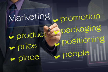 marketing plan: Man writing a marketing plan