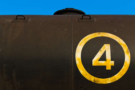 Abstact of fuel tank on freight train photo