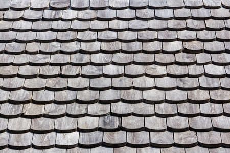 slate roof: Traditional wooden roof tile of old house