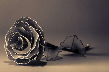 Artificial rose in vintage color