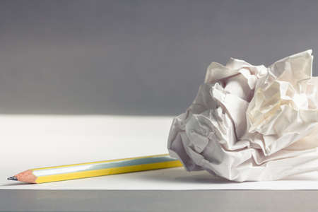ball lump: Pencil on clear white paper with crumble paper ball