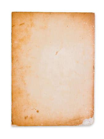 paperback: Documento brossura antico isolato su sfondo bianco Archivio Fotografico