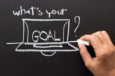 What is your goal  message and drawing with chalk photo