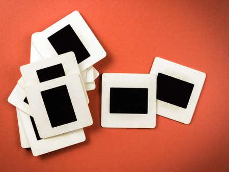 mounts: Old slide film mounts in retro color style