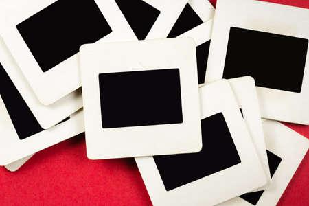 reversal: Pile of old slide film mounts