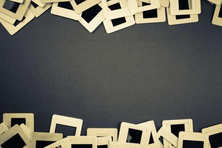 mounts: Slide film mounts as retro background
