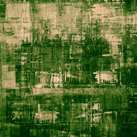 cubism: Abstract cubism art as grunge green painting Stock Photo