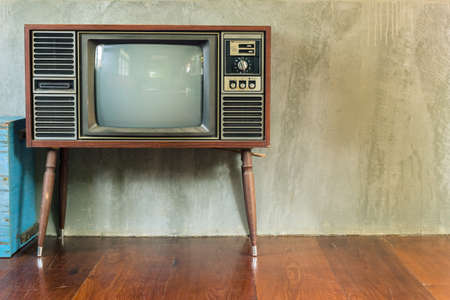 Retro television in the old room photo