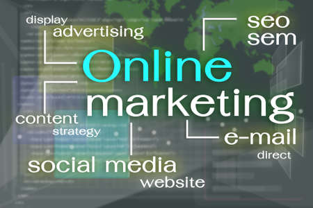 factors: Online Marketing factors on virtual reality screen