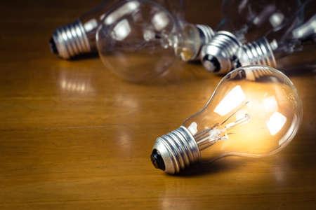 lighten: Lighten light bulb on wood