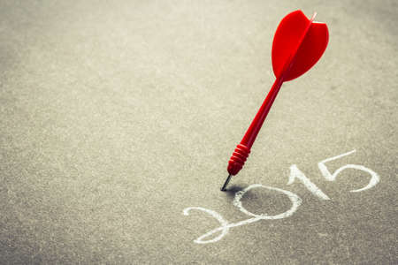 2015 accurate goal setting concept Stock Photo