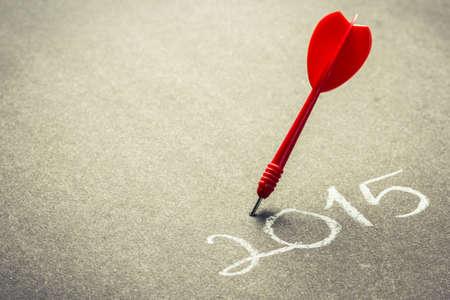 setting goal: 2015 accurate goal setting concept Stock Photo