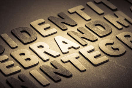 topic: Brand topic in wood letters