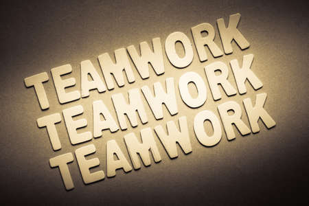 topic: Teamwork topic in wood letters