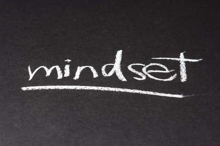 topic: Handwriting on chalkboard of Mindset topic