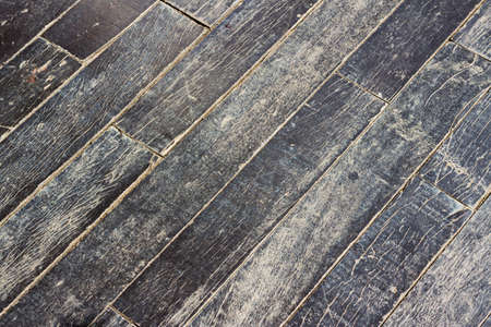 diagonal lines: Black wood floor in diagonal lines composition Stock Photo