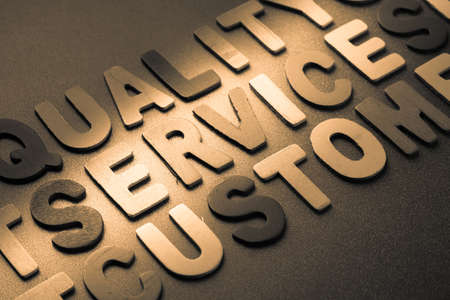 topic: Service topic in wood letters Stock Photo
