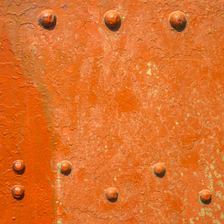 knotty: Abstract metal with knotty rivet of freight train Stock Photo