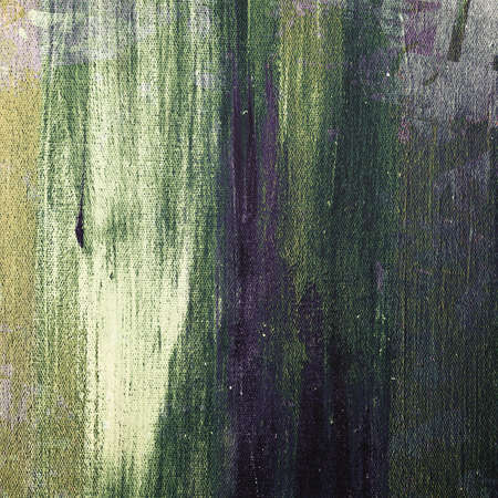 strokes: Painting with brush strokes on canvas texture Stock Photo