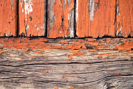 chipped paint: Old wood wall with chipped paint, retro color style Stock Photo
