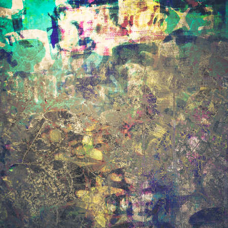 mixtures: Abstract grunge wall, color stained on concrete texture