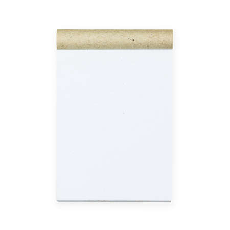 writing pad: Small writing pad for short note isolated on white background