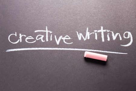 topic: Creative Writing topic on chalkboard