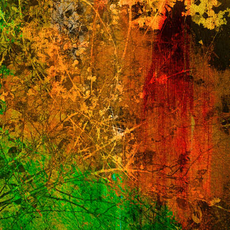 treetop: Artistic background, treetop on grunge painting