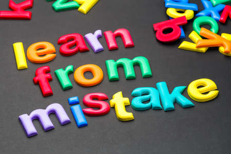 better chances: Colorful letters arranged as Learn From Mistake