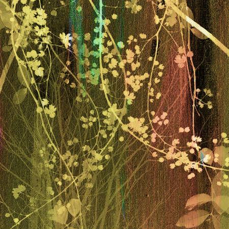Schilderen op doek textuur met boomtop