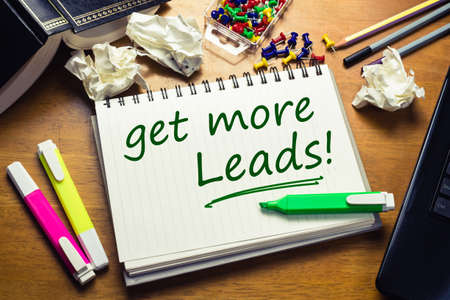 Get More Leads text as memo on the desk