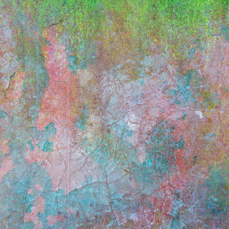 Old concrete wall texture with faded color Stock Photo