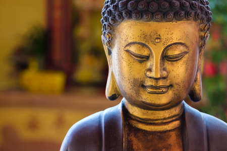 Closeup Buddha statue in Chinese style