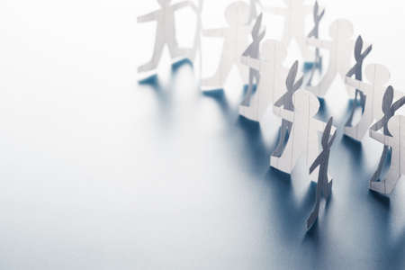 Human chain paper with copy space