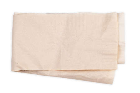 Brown tissue paper, recycled tissue isolated on white background, can be used as notepad